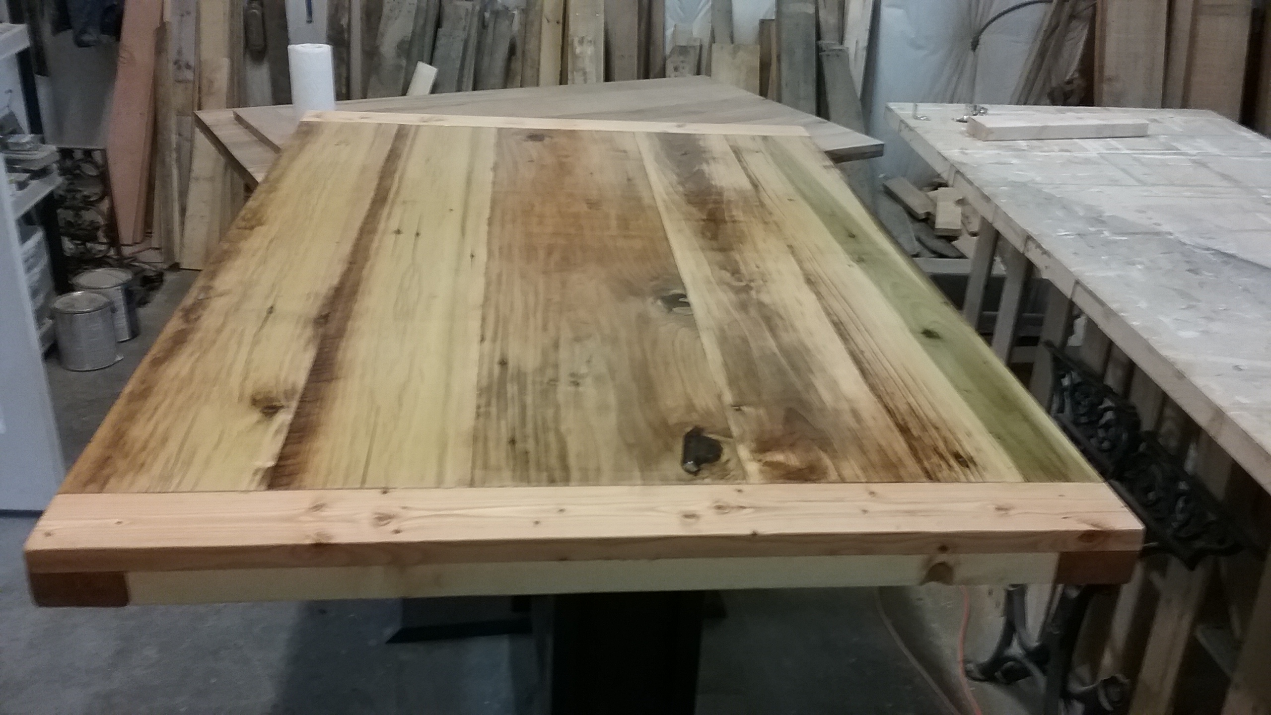 Bar Height Table Of Poplar 325 I Found Some Nice Boards That Came Off A Barn The Wood Had Several Diffe Hues So After Planed It Down