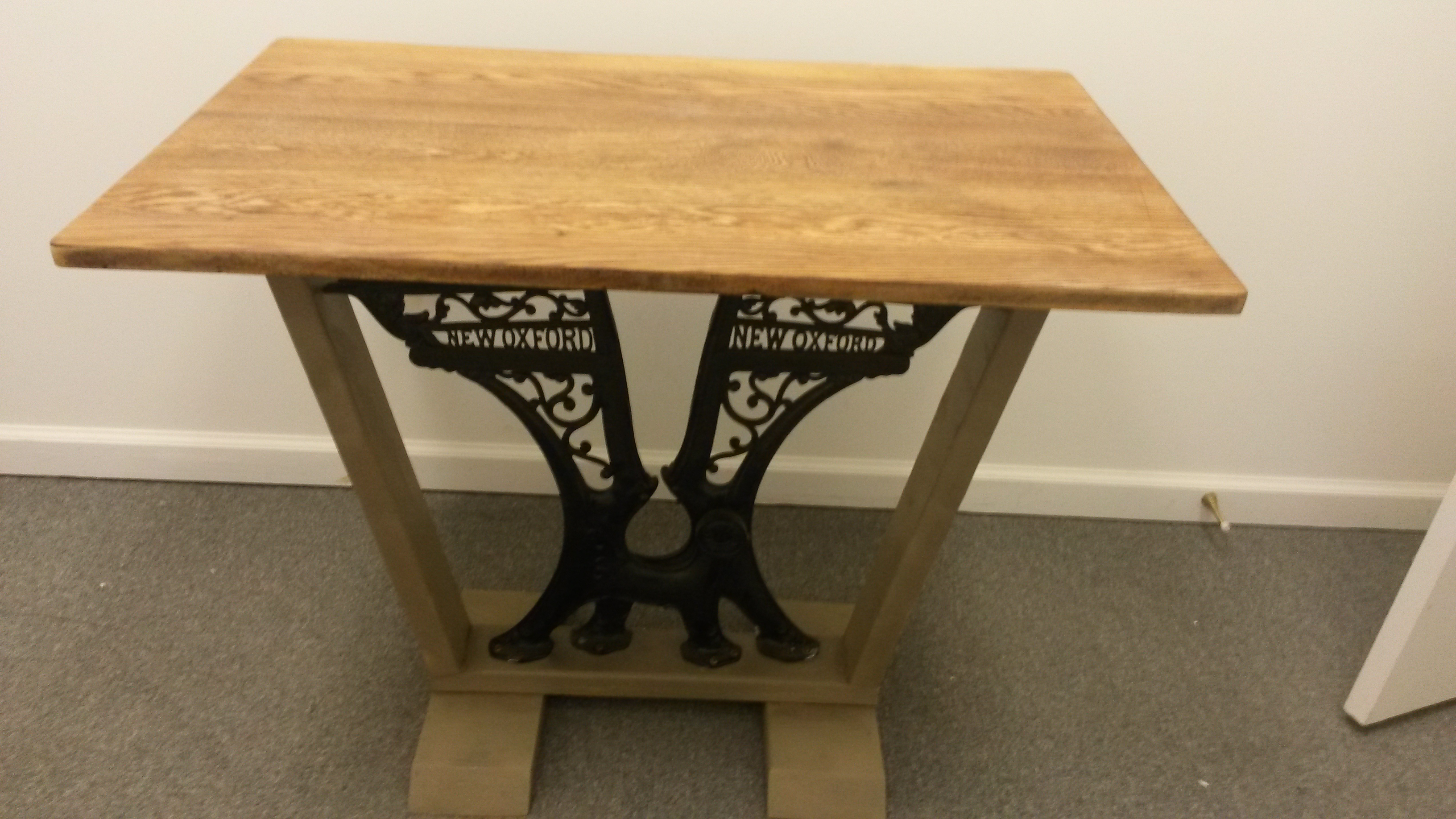 Entry Table W Student Desk Legs 125 I Love The Ornate Cast Iron Found On Turn Of Century Desks These Say New Oxford Them And